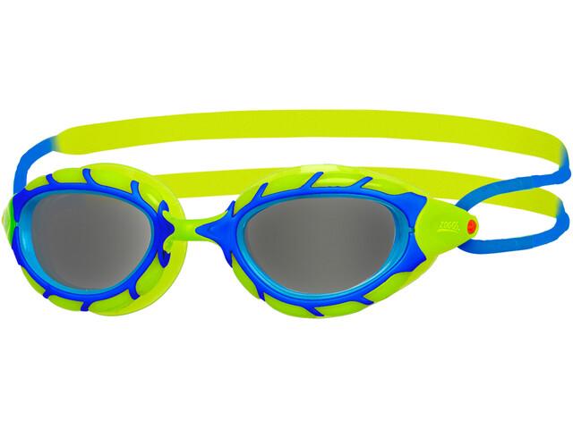 Zoggs Predator Lunettes de protection Enfant, blue/lime/smoke